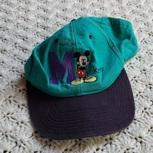 Vintage Mickey Mouse Embroidered Snapback Hat